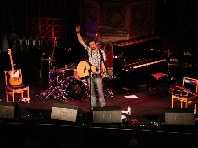 Frank Turner playing live at the Union Chapel