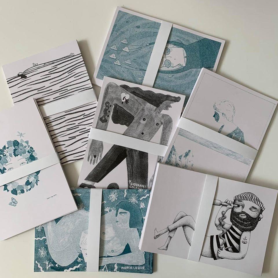 O MAGO Studio fez as impressões das ilustrações oferecidas pelos artista