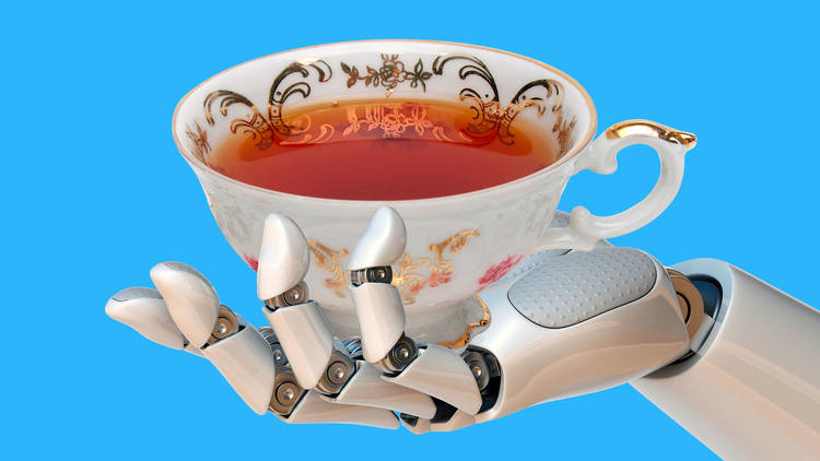 Robot serving a cup of tea