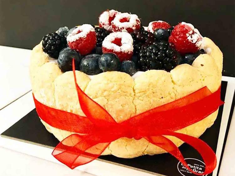 La Petita de la Gran: pastel de mousse de chocolate y almendra