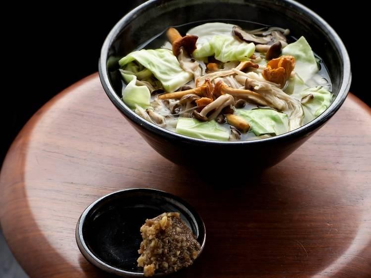 Koya's beloved miso and walnut ramen