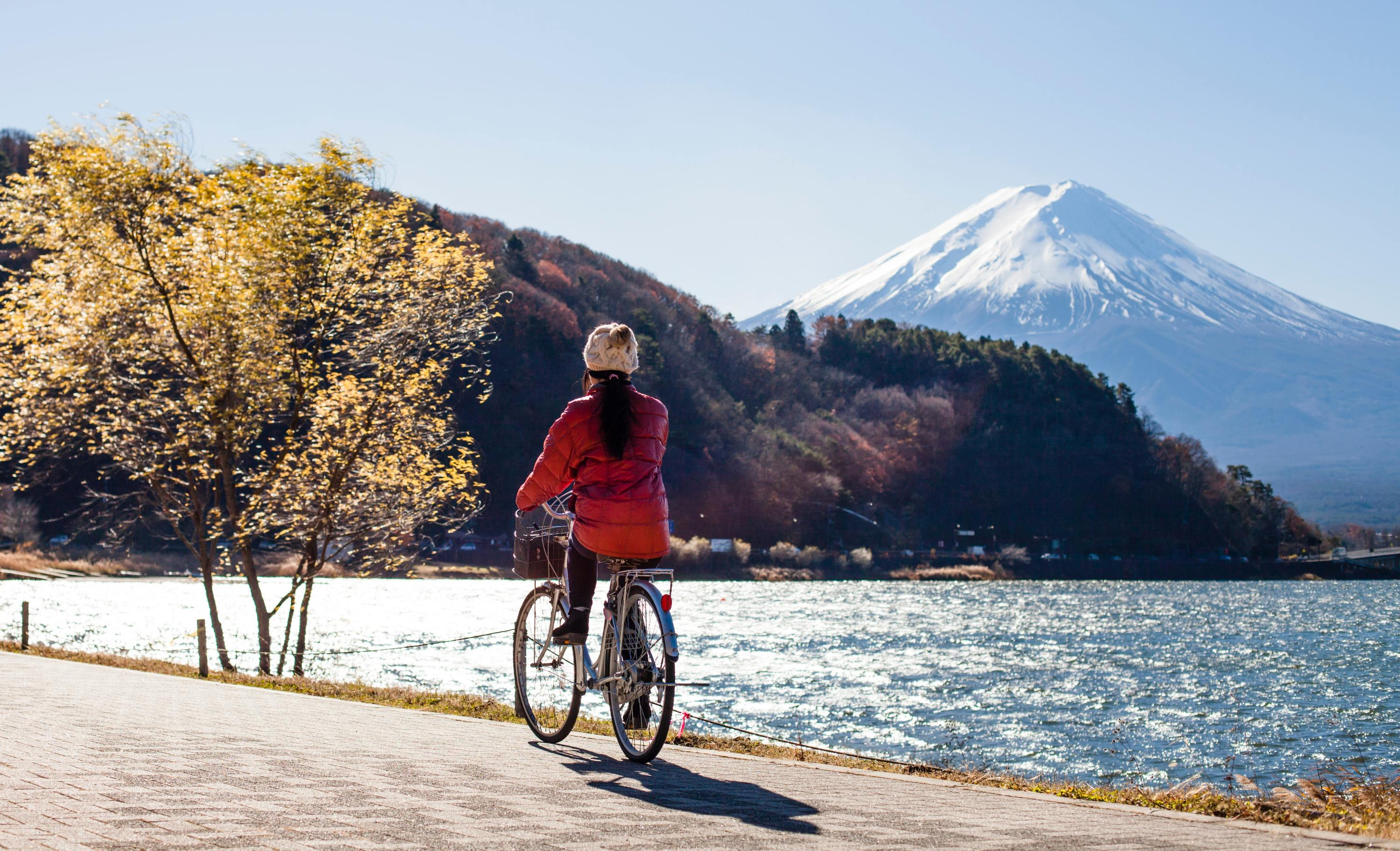 Mt Fuji, sightseeing on bicycles