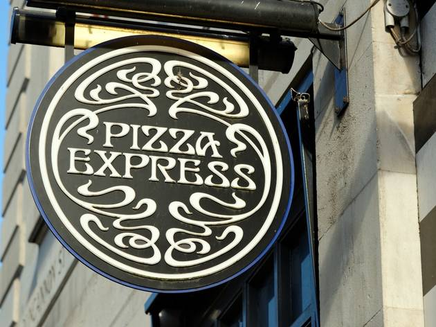 pizza express sign at the front of one of its UK branches