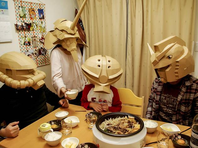 Masks from cardboard