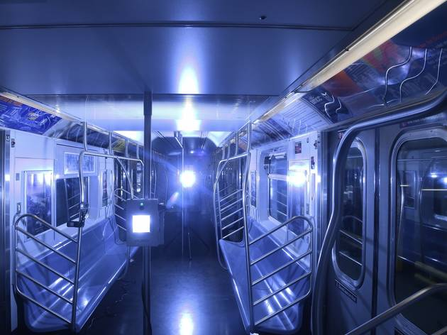 Watch a subway car get blasted with UVC light to get disinfected