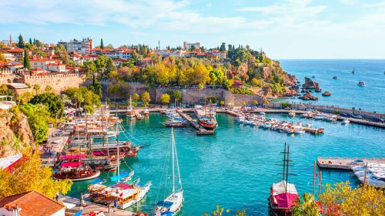 A harbour in Turkey