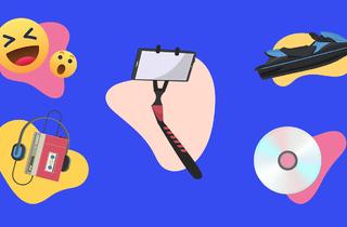 Japanese inventions, emoji, selfie stick, Walkman, jetski, CD
