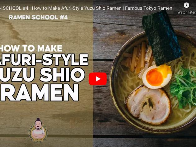 Afuri-style yuzu shio ramen cooking video by Adam Liaw