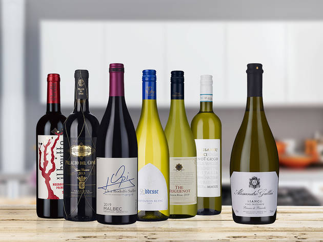 32% off six bottles of wine plus a free bottle of fizz and home delivery