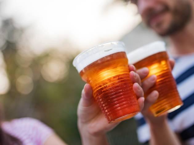 outdoor beer drinking