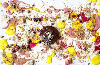 alinea, dessert, tabletop dessert, table dessert, sweets, grant achatz, takeout, Caitlin Spurlin