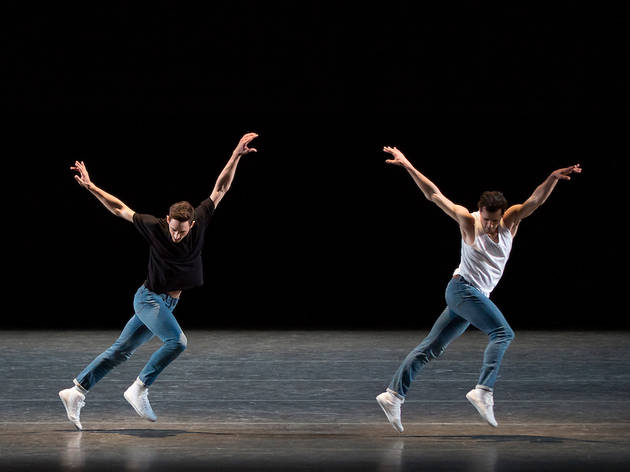 Justin Peck and Robert Fairchild in Peck's The Times Are Racing (New York City Ballet)