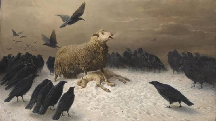 'Anguish' August Friedrich Albrecht Schenck 1878