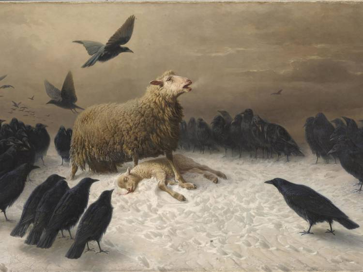 The story behind the NGV's 'sad sheep painting' and its mysterious artist