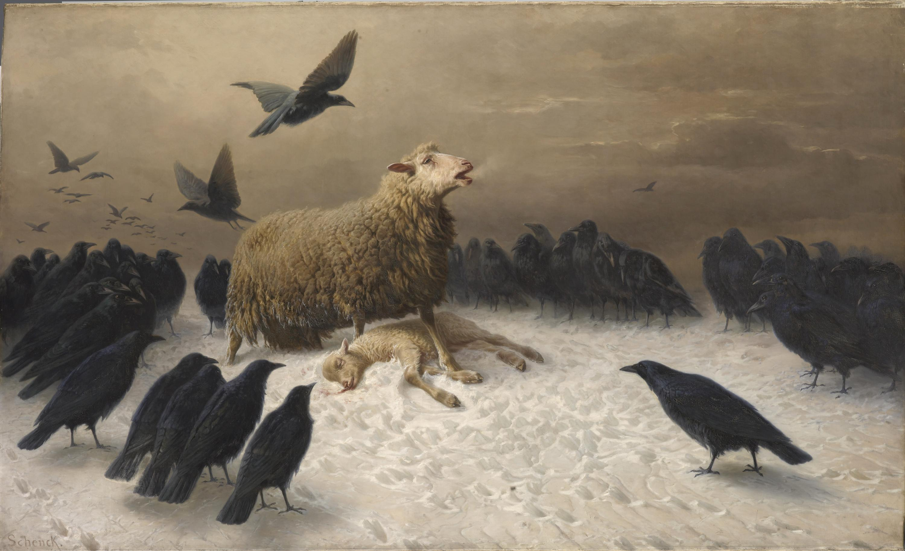 The story behind the NGV's 'sad sheep painting' and the mysterious artist who painted it