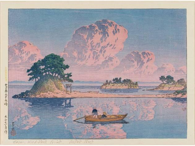 Arte, Xilogravura, Shin-hanga, Nihon fūkei senshū, Shimabara Tsukumojima, Kawase Hasui