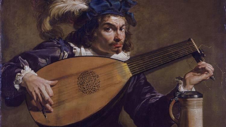 Arte, Pintura, Alaudista, Theodoor Rombouts, c.1620