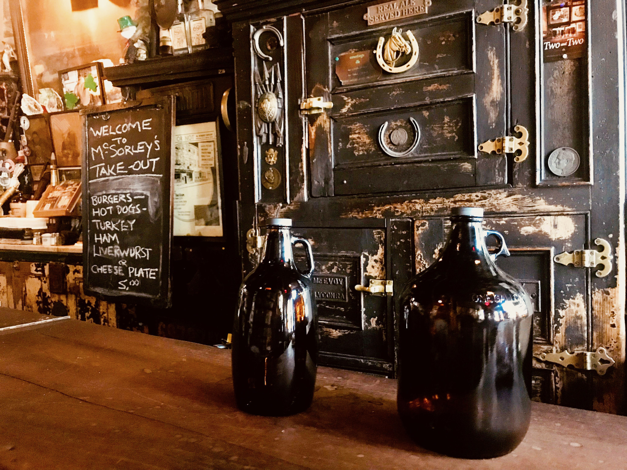 McSorley's, America's oldest Irish pub, is now offering growlers to-go