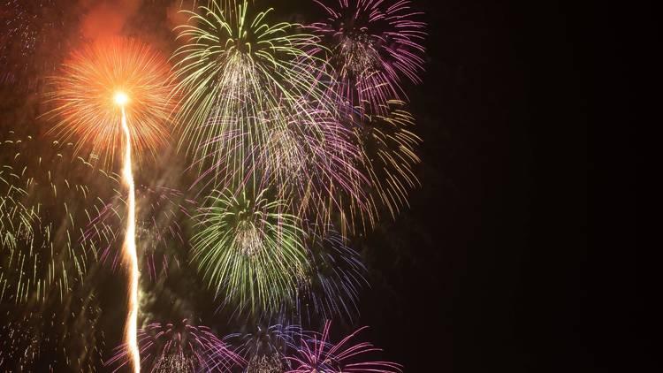 Fireworks in Kawaguchiko