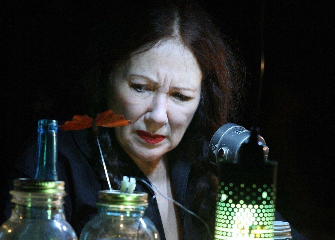 Black-Eyed Susan in Red Fly/Blue Bottle