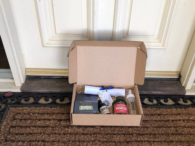 Order a Melbourne Box: a hand-delivered pack filled with entirely local products