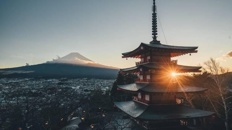 Mt Fuji pagoda
