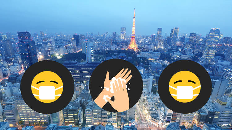 How to go out safely infographics, Tokyo city skyline, Tokyo Tower