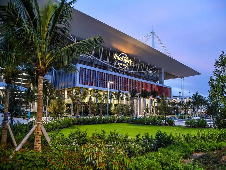 Hard Rock Stadium is turning into a massive drive-in theater