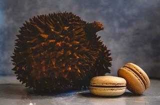 Durian macarons
