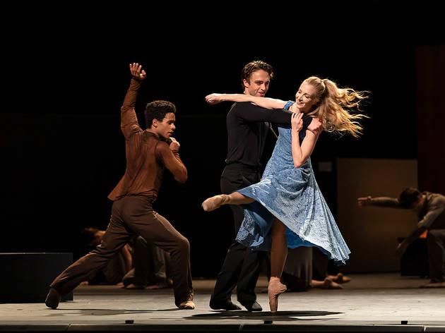 Marcelino Sambe, Matthew Ball and Lauren Cuthbertson in The Cellist (Royal Ballet)