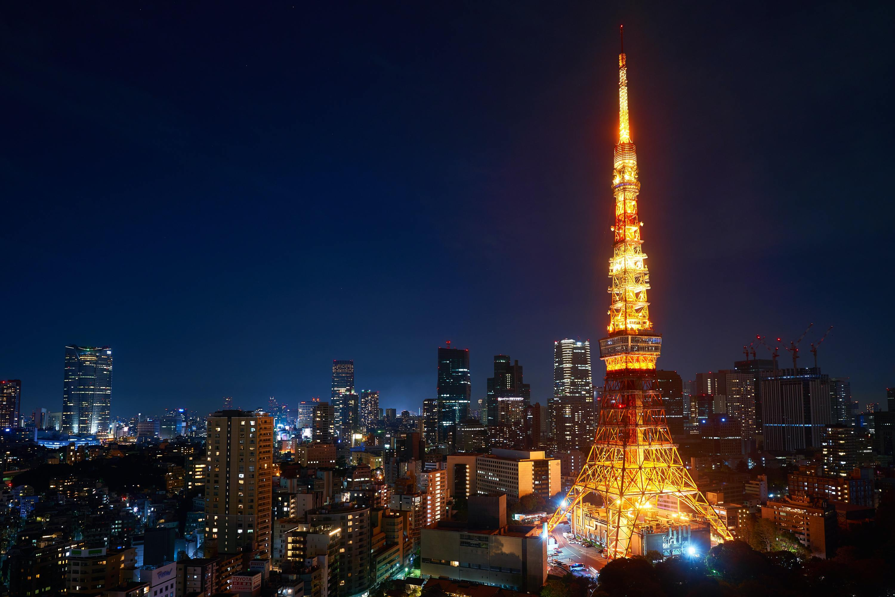 Tokyo Tower visitors are urged to take the stairs to reach the main observation deck