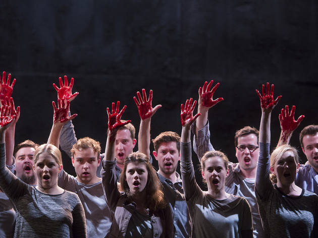 Children with bloody hands in Handel's Messiah at Bristol Old Vic