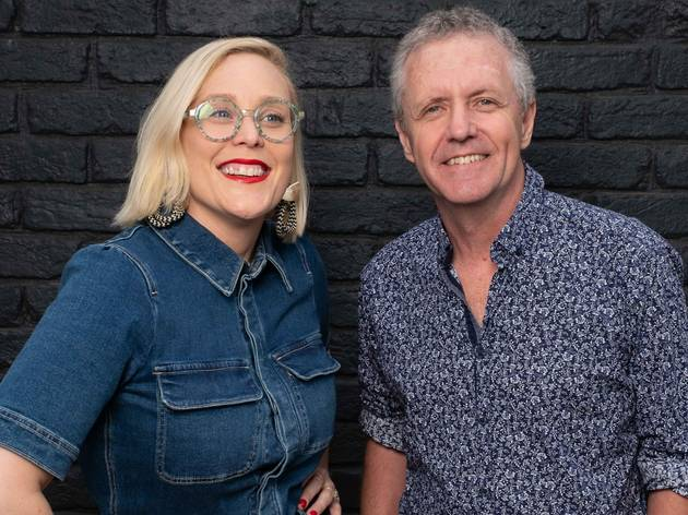 Amylia Harris, co-artistic director of Darlinghurst Theatre with Glenn Terry