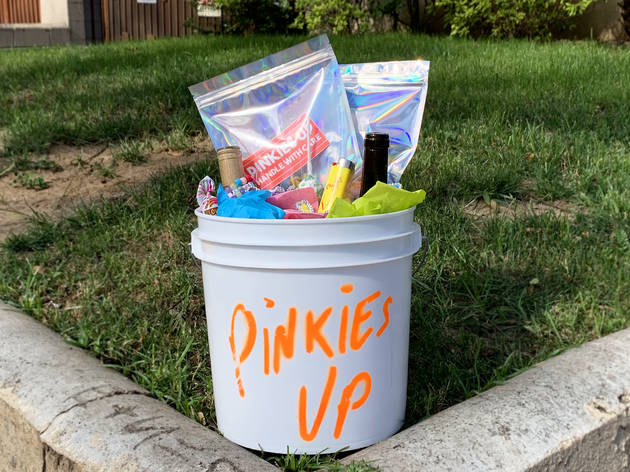 Pinkies Up natural wine buckets quarantine party pack