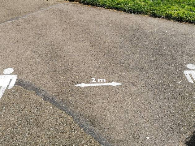 two metre distance in London's parks