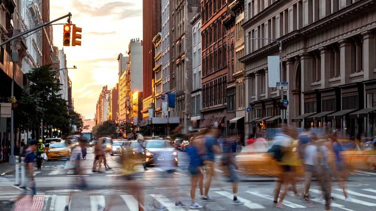NYC street shopping