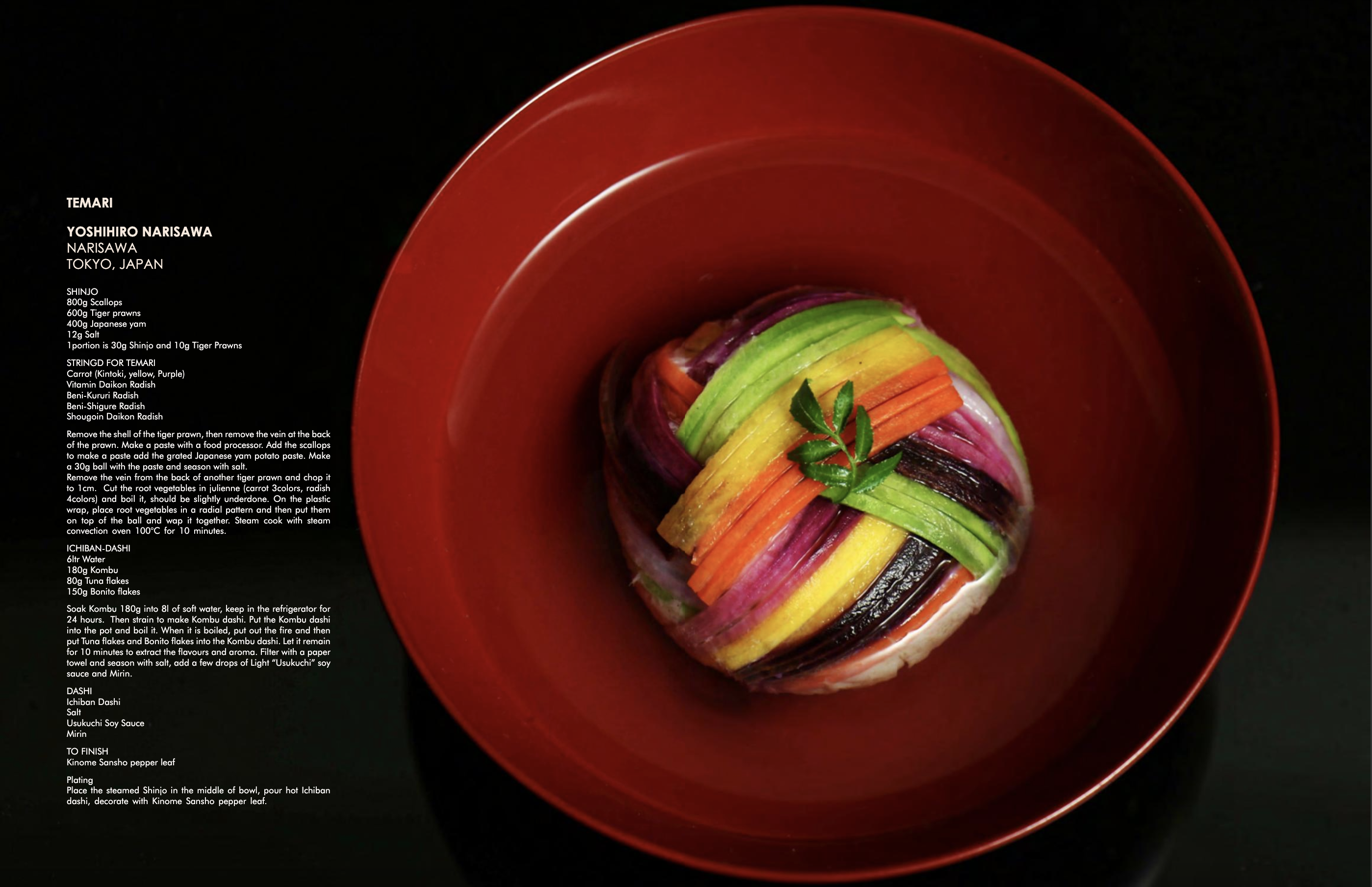 Download more than 100 recipes from the world's top restaurants, including Tokyo's Narisawa