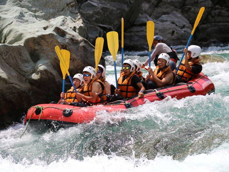 Ride the rapids on the Tama River
