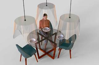 Dining shields, social distancing