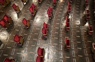 Berliner Ensemble with socially distanced seating