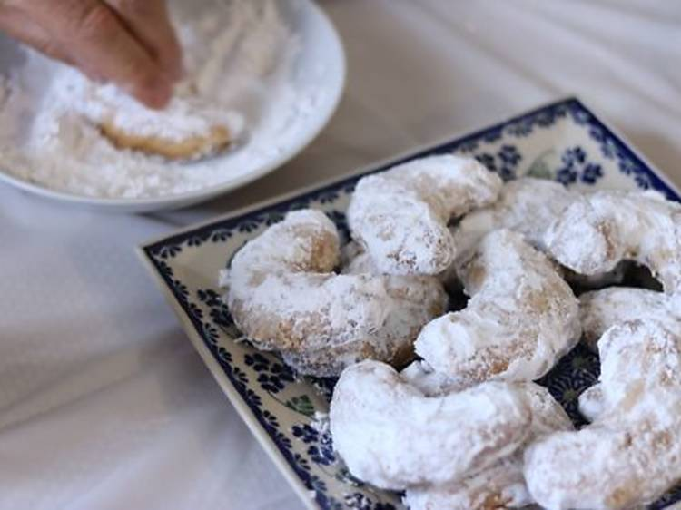 Kourampiedes (Greek Almond Cookies) from the League of Kitchens