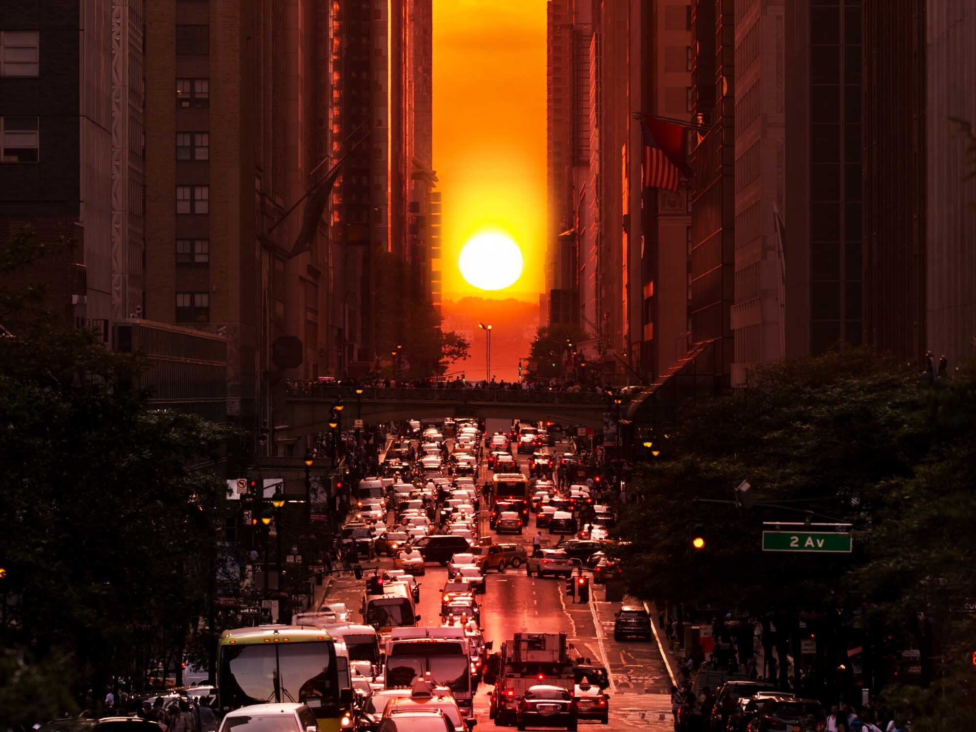 The Manhattanhenge sunset is happening this weekend