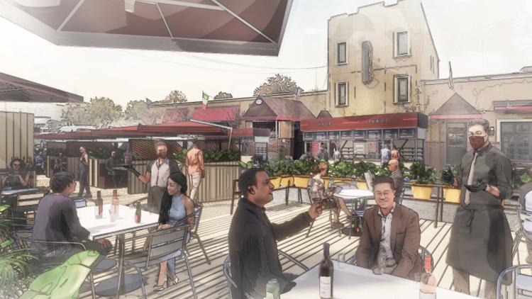 Outdoor dining rendering