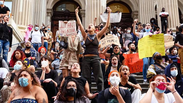George Floyd, protest, NYC, Black Lives Matter, BLM