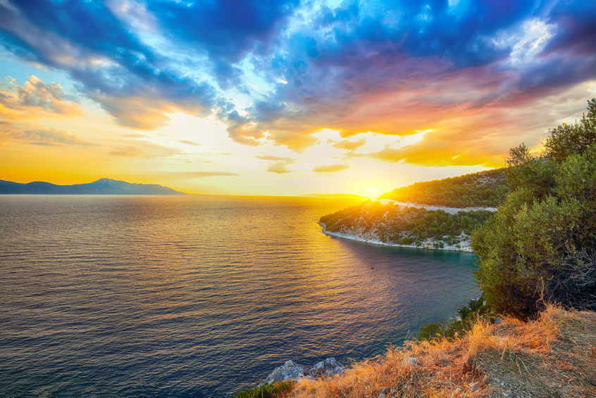 Coastline Of Makarska Riviera During Sunset, baska voda, brela