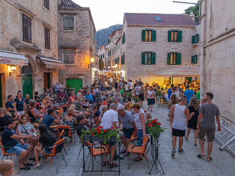 Check out the old town of Omiš