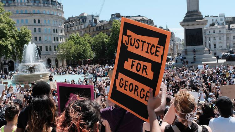 George Floyd protest, Trafalgar Square