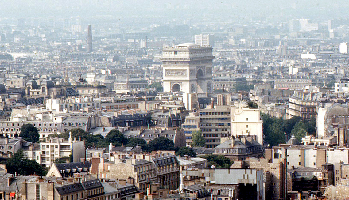 Arc de Triomphe in 1968