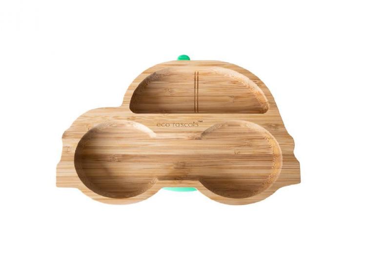 Prato de madeira Planeta Huerto