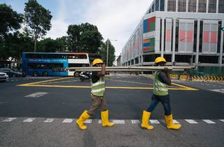 Foreign workers building Singapore